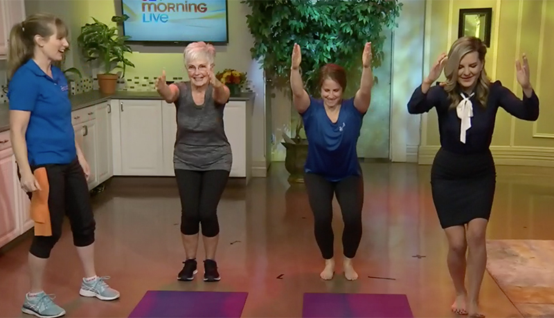 Zoomers yoga positions on CTV news