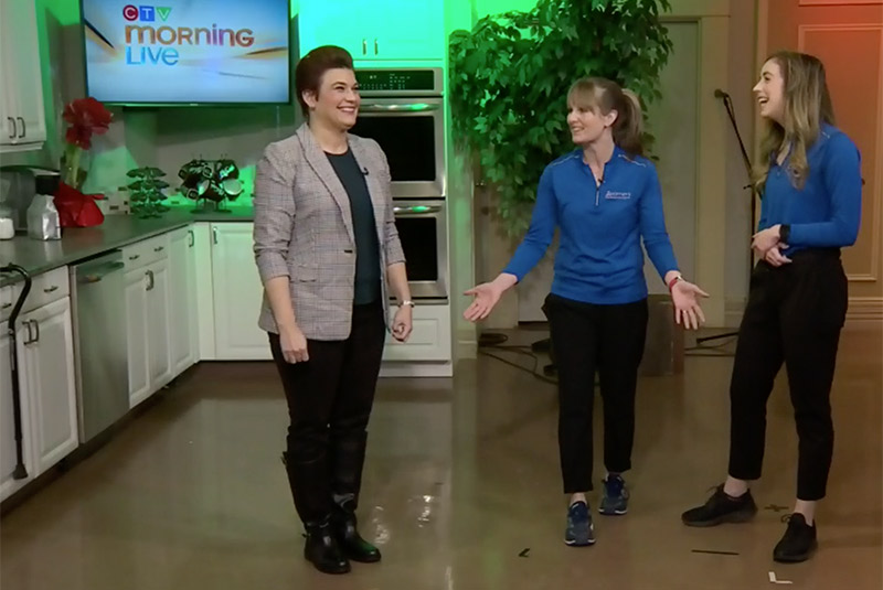 Zoomers physiotherapists on CTV discussing walking for improved fitness